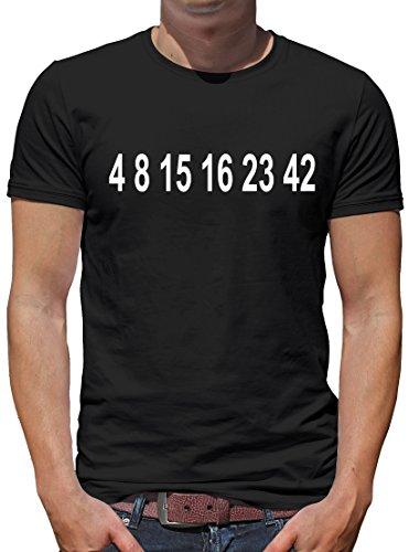TShirt-People Lost Zahlen T-Shirt Herren XXXXL Schwarz