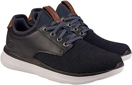 Skechers Men's Classic Fit - Delson Black Sneaker - Casual Walking Slip On Shoe (12)