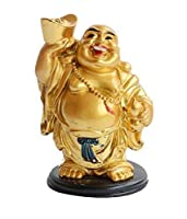 Material: Polyresin Color Golden Color Package Contents: 1 Show Piece, Size : L X B X H ; 6.5 CM X 6.5 CM X 11 CM APPROX This God of wealth is not prayed to, but just displayed and its presences is purely symbolic and auspicious It brings prosperity,...