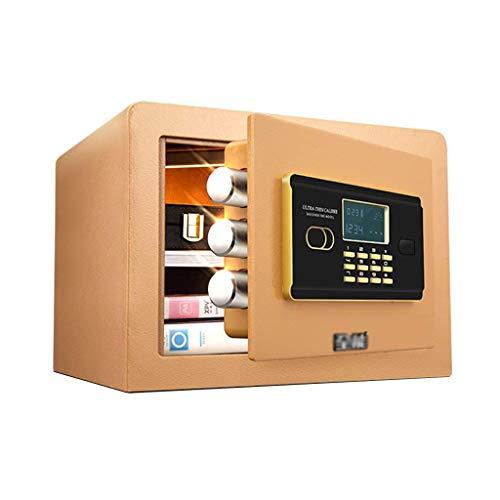XiYou Caja Fuerte de Seguridad, pequeño Armario Invisible para el hogar, Armario de Seguridad, contraseña, Oficina, antirrobo, Mini Alarma, depósito, 25 cm Junto a la Cama (Negro, 36 * 30 * 26,5 cm)
