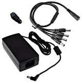 BW High Quality 12V 5A 60W DC Power Supply with a 4 Way
