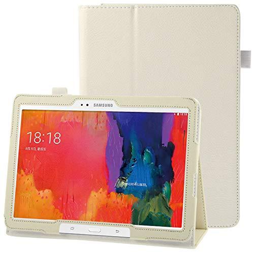 Caja Protectora de la Tableta Funda de Cuero con Textura con Soporte for Galaxy Tab Pro 10.1 / T520 (Azul) (Color : White)
