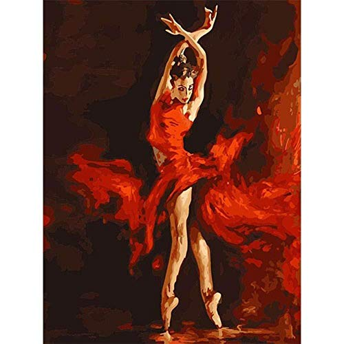 Pintura al óleo por número kit Llama bailarina lienzo pinturas acrílicas pintura para adultos principiante DIY Pintura al óleo