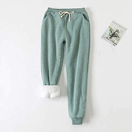 ZS ZHISHANG Comfy Sweat Pants Womens Winter Track Athletic Joggers Pants Thick Loose Cashmere Sweatpants Tracksuit
