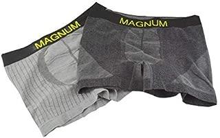 Sierra Men's 2 Pack Soft Bamboo Charcoal Cotton Boxer Briefs Breathable Underwear