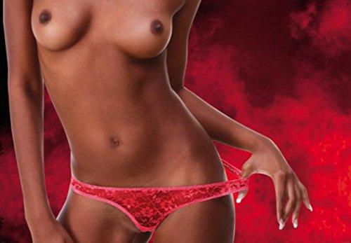 1art1 Schöne Frauen - Flammend Heißes Girl, 3-Teilig Fototapete Poster-Tapete 360 x 250 cm