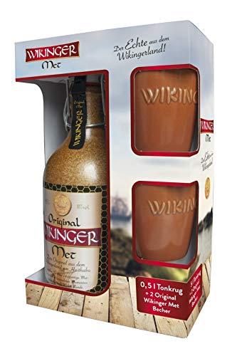 Wikinger Met | Das Original | 1 x 500ml | Im Tonkrug |inkl. 2 Becher