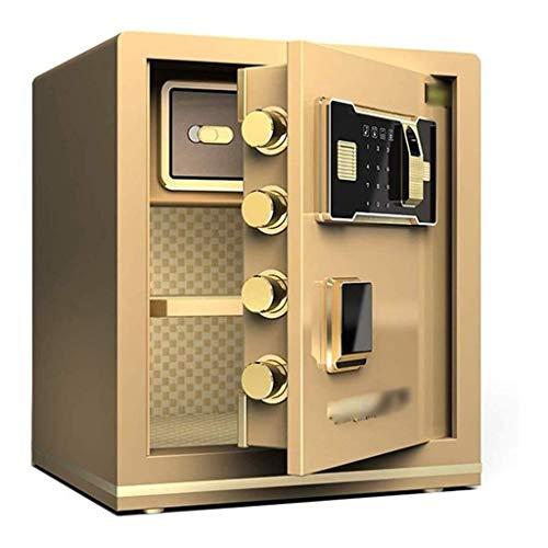 WANGJUNXIU De kluis, volledig stalen anti-diefstal vingerafdruk ontgrendelen startpagina Safe staal huis kantoor veilig voor cash-Keys paspoorten Valuables - Secured By Design - Persoonlijke Safe Tyrant goud.
