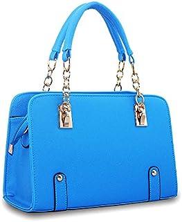 حقيبة كتف لون ازرق للنساء