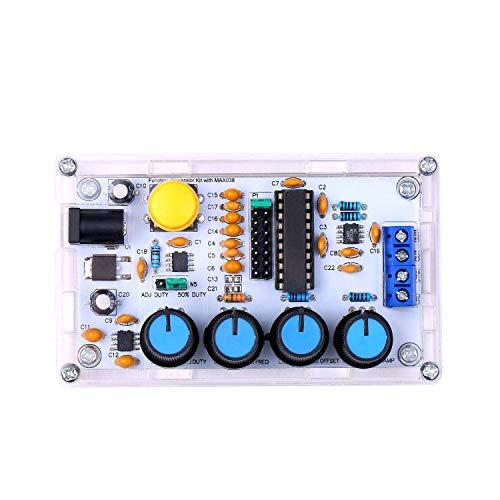 Tickas MAX038 Signalgenerator DIY Kit 1Hz ~ 20MHz Funktionsgenerator Hochgeschwindigkeits-Operationsverstärkergenerator Sinus/Dreieck/Rechteck/Sägezahn