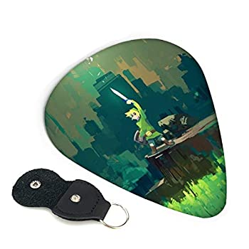 The Legend of Zelda Guitar Picks 6 Pack For Electric Guitar Acoustic Guitar Mandolin And Bass | 3 Thicknesses Environmental ABS Personalized Design Guitar Picks