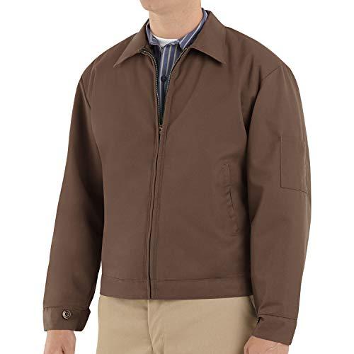 Red Kap Men's Slash Pocket Quilt-Lined Jacket, Brown, Large