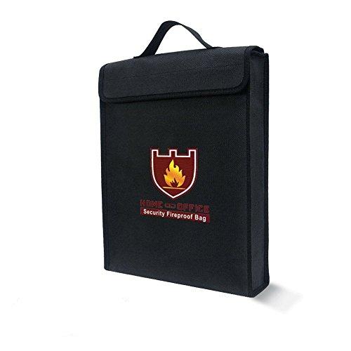 ZEERKEER brandwerende documententas, brandwerende waterbestendige tas met handvat rits, niet-jeukende siliconen gecoate glasvezel envelop, brandwerende veilige opslag van waardevolle spullen