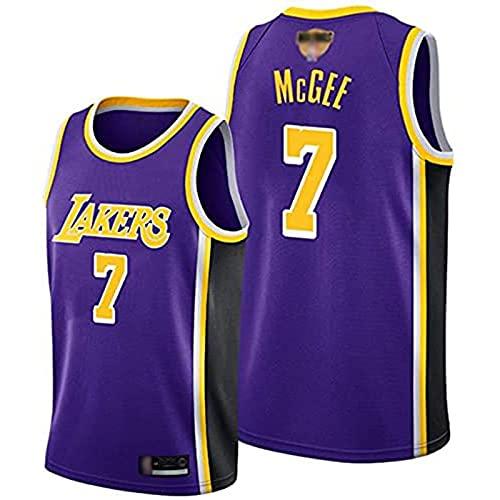 Ropa Uniformes de baloncesto para hombres, Los Ángeles Lakers # 7 Javale McGee NBA sin mangas de secado rápido Camiseta de secado rápido Tops Casual deportivo Chalecos Versión, Ca(Size:L,Color:G1)