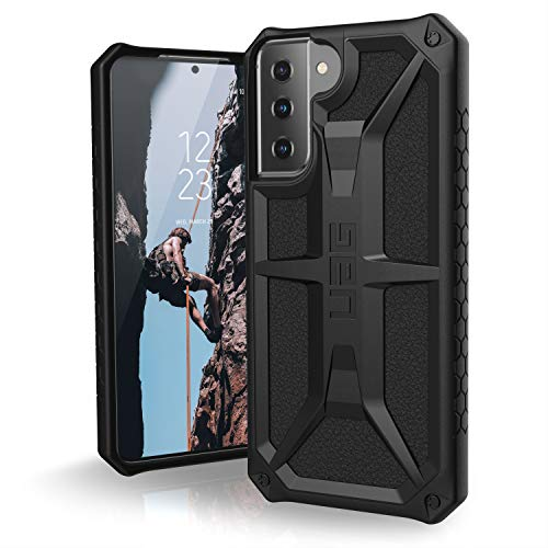 "Urban Armor Gear Monarch Hülle Samsung Galaxy S21+ 5G (6,7\"" Zoll) Cover (Wireless Charging kompatibel, Fallschutz nach Militärstandard, Sturzfeste Handyhülle, Ultra Slim Bumper) - schwarz"