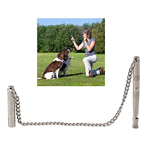 Tylu Silent Stainless Steel Dog Whistle Ultrasonic Pet Trainer with Adjustable Frequency Dog Whistle Training to Stop Barking