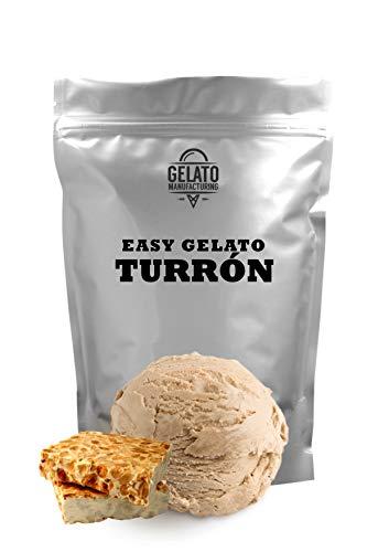 Base mix para helado de TURRÓN, con 1.8 kg mix + 2.2 lt leche se obtienen 5,5 litros de helado