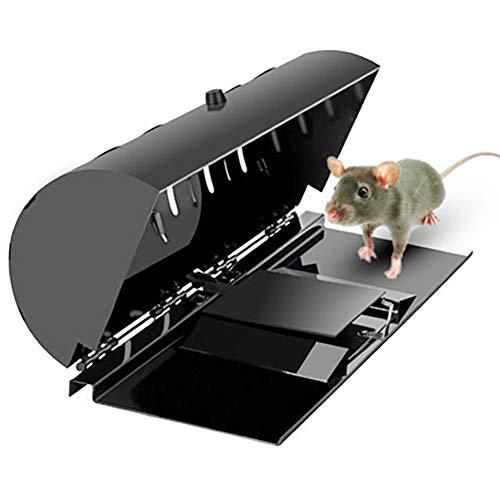 SHUPIAN Trampa para Ratas Humanizado, Fácil De Usar, Multicaptura, Automática, Humano, Sin Muerte, Mouse Trap, No Daña Al Ratón, Reutilizable para Interior Y Exterior,1piece