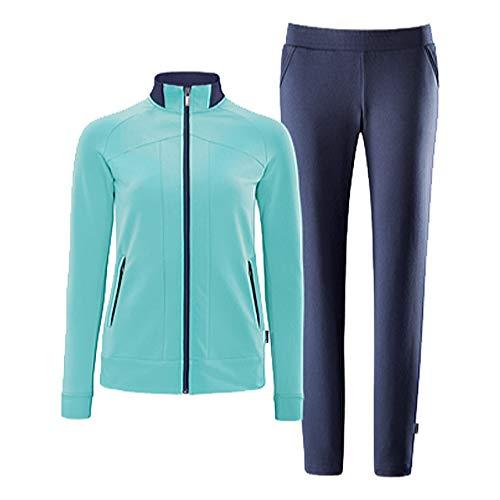 Schneider Sportswear Damen Deena Anzug, brightmint/dunkelbla, 44
