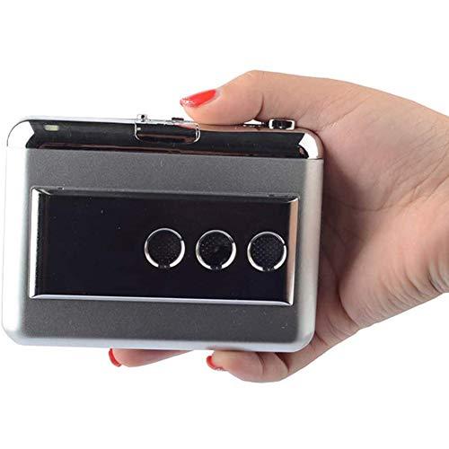 POOPFIY Reproductor de Casete Digital USB, Cinta de Casete para MP3 Converter Captura de Audio Convert Música Reproductor de música en Cinta para PC portátil Mac OS