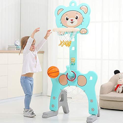 Basketballkorb fürs Zimmer, Verstellbarer Basketballkorb mit Fußballtor und Ringwurf für Kindersportarten