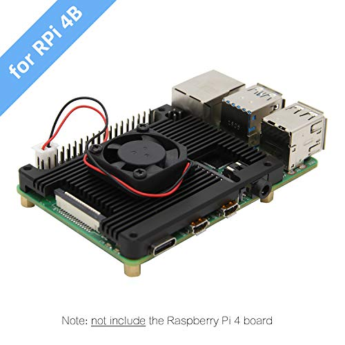 Red Toyvian Armor Case Aluminium Alloy Metal Case Passive Cooling CNC Shell Heat Dissipation for Raspberry Pi 3B//3B+