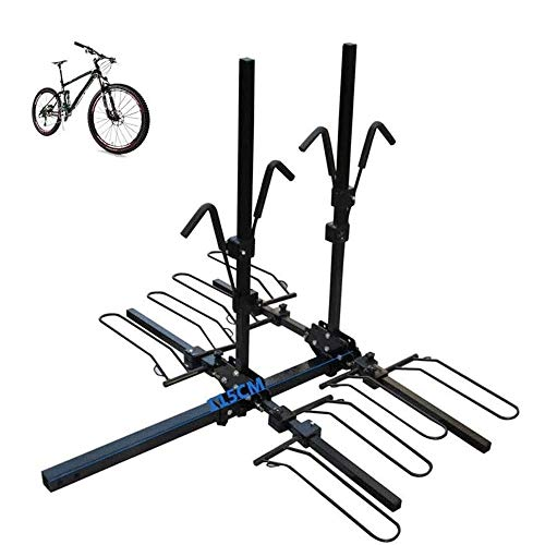 Lamyanran Folding Bike Rack Bicycle Carrier Racks,Hitch Mount Double Foldable Rack for Cars, Trucks, SUV's and Minivans,Suitable for Models with A Square Port in The Rear Rack Bike Premium Carrier