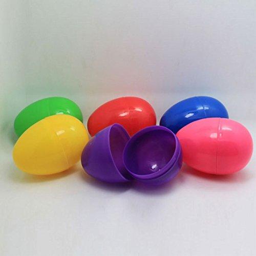 VSTAR66 - Set di 24 Uova di Pasqua, riempite in plastica, vuote, per Bambini, Caccia di Pasqua, attività e Decorazione Festiva
