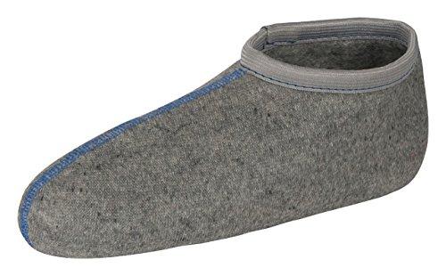 Tobeni 2 Paar Damen Herren Kinder Stiefelsocken Rosshaarsocken Thermosocken Innenschuh Socken für Gummistiefel Unisex Farbe Grau Grösse 41-42