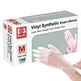 Disposable Gloves, Squish Clear Vinyl Gloves Latex Free Powder-Free Glove Health Gloves for Kitchen Cooking Food Handling, 100PCS/Box, Medium