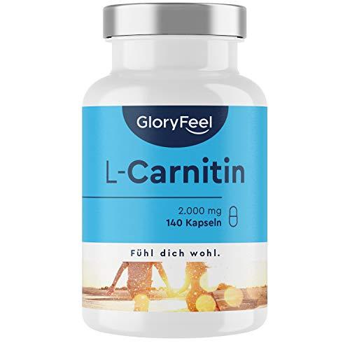 L-Carnitin Hochdosiert - 140 vegane Kapseln - 3.000mg Original L-Carnitintartrat pro Tagesdosis (davon 2.000mg reines L-Carnitin) - Laborgeprüft und ohne Zusätze hergestellt in Deutschland
