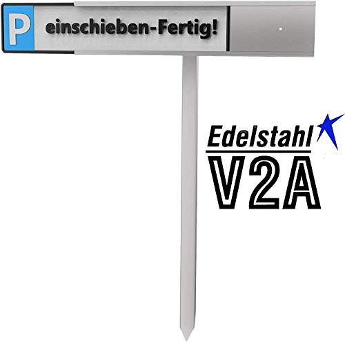 Reinkedesign Parkplatz Schilder- Halterung für KFZ- Schilder (KFZ-Schilder- Halterung zum einschieben mit Pfosten zum einschlagen)