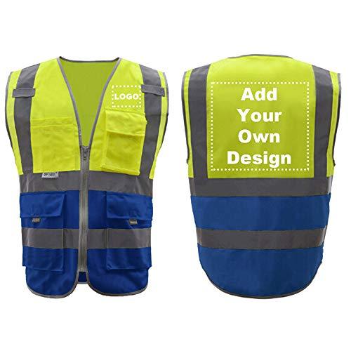 GOGO Chaleco reflectante de seguridad de alta visibilidad personalizad