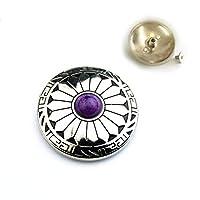 【Gion】カラー豊富!全15色取扱!コンチョボタン2個セット ネジ式 ハンドメイドパーツ (⑭紫)