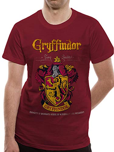 T-Shirt (Unisex-Xl) Gryffindor Quidditch (Red)