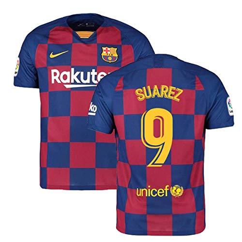 2019-2020 Barcelona Home Nike Football Soccer T-Shirt Trikot (Luis Suarez 9)