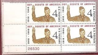 Stamps, U.S. Boys Scouts Of America Scott 1145 MNH Block of 4