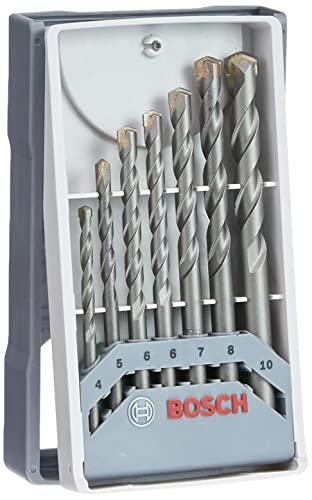 Bosch Professional 7-teiliges CYL-3 Betonbohrer Set (für Beton, Ø 4/5/6/6/7/8/10mm, Zubehör Schlagbohrmaschine)