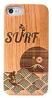 MKGCASE ちょっと大人な 日本の美Series Japanese Surf natural cherry wood + PC-polycarbonate 耐久性UP ウッドケース (iPhone 11 Pro Max)