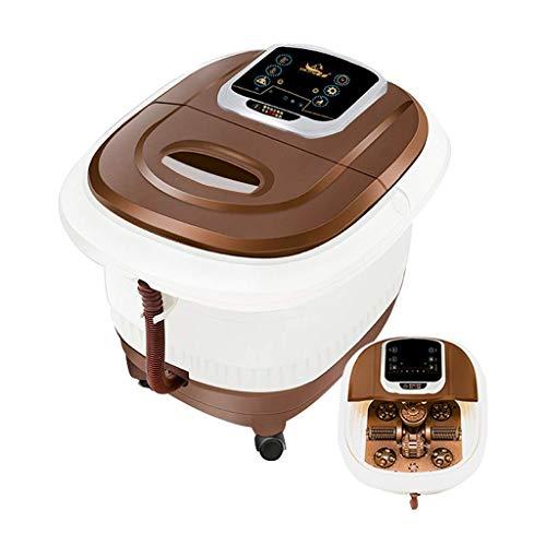 Elektrische voetmassage-apparaten voetbad elektrische massage voetbad plug in voet bad huishoudbad wasbak verwarmingsthermostaat elektrisch automatisch (kleur: wit, grootte: 41 * 40 * 43,5 cm)