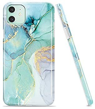 LUOLNH Compatible with iPhone 11 Case,iPhone 11 Marble Case,Brilliant Design Shockproof Flexible Soft Silicone Rubber TPU Bumper Cover Skin Case for iPhone 11 6.1 inch 2019 -Abstract Mint