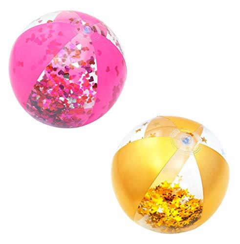 Bestway Float'N Fashion Glitzer-Wasserball, sortiert, 41 cm