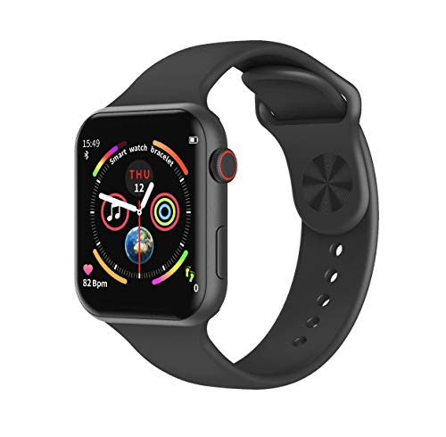 Revi Smart Watch, Waterproof, Incoming Call, Calories, Weather Forecast, Heart Rate Monitor, Multi-Sport Mode, Blood Pressure (Black)