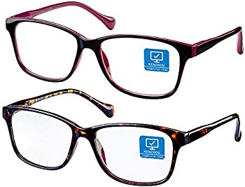 2-Pack Blue Light Blocking Computer Glasses with Spring Hinges