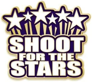 security Reach For The Stars Lapel Direct store Pins - Sports Recognition Col Pin with