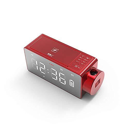 XBR Digitale wekker, digitale led-wekker, met 4.2, bluetooth-luidspreker, FM-radio, TF-kaart, nachtlampje, wijzerweergave, slaaptimer, AUX-bas, draadloze luidspreker