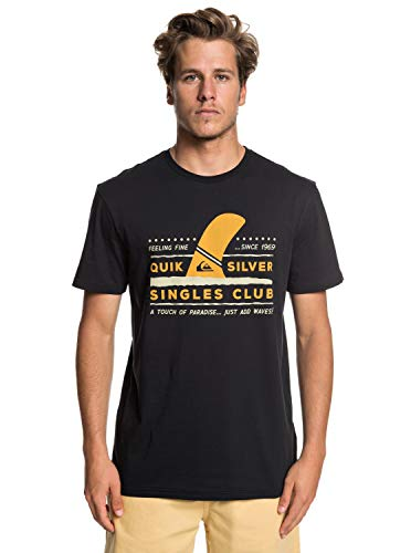 Quiksilver Wave Paradise T-Shirt, Hombre, Black, L