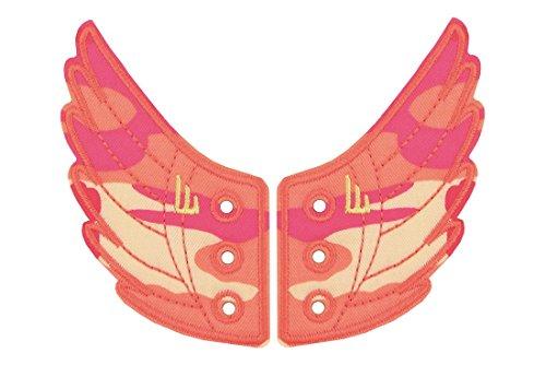 DONKEY Products Flügel für die Schuhe, Shwings, 2-TLG, Schuhflügel für Schnürschuhe, Camouflage Pink, 330617