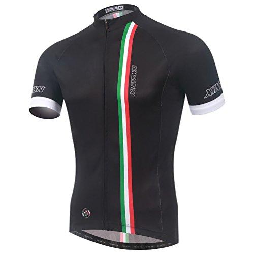Baymate Unisexe Respirant Maillot Cyclisme Manche Courte Shirt de Vélos S