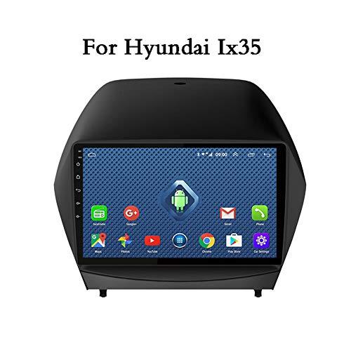 Android Car Stereo Pantalla táctil de 9 Pulgadas Navegación GPS Quad Core para Hyundai Ix35 Bluetooth Car Support FM Radio Receiver/WiFi/USB Input/SWC/Mirror Link/Rear View Camera,WiFi 1G 16G